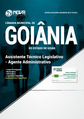 Apostila Câmara de Goiânia 2018 - Assistente Técnico Legislativo - Agente Administrativo