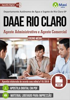 Apostila DAAE Rio Claro 2018 pdf