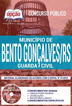 Apostila Concurso Guarda Civil Bento Gonçalves 2018