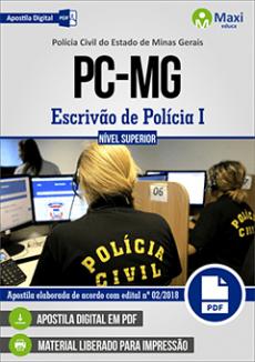 Apostila Polícia Civil MG 2018 Escrivão