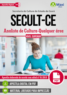Apostila SECULT-CE 2018 pdf