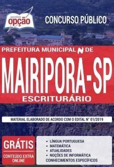 Apostila Prefeitura de Mairiporã Escriturário